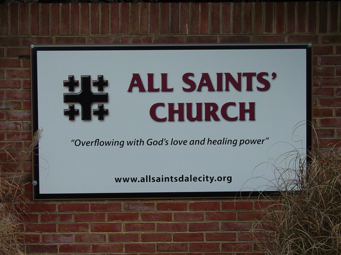 All Saints Church Community Sign