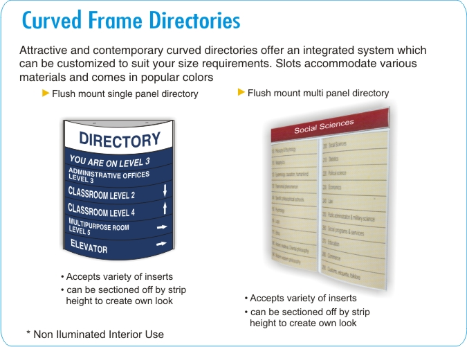 Curved Office Directories