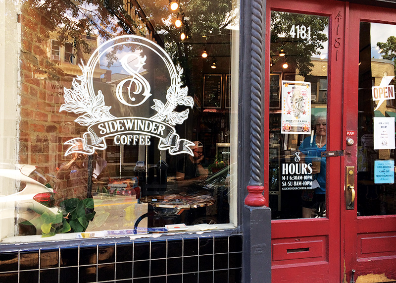 Sidewinder Coffee - Vinyl Window Decals