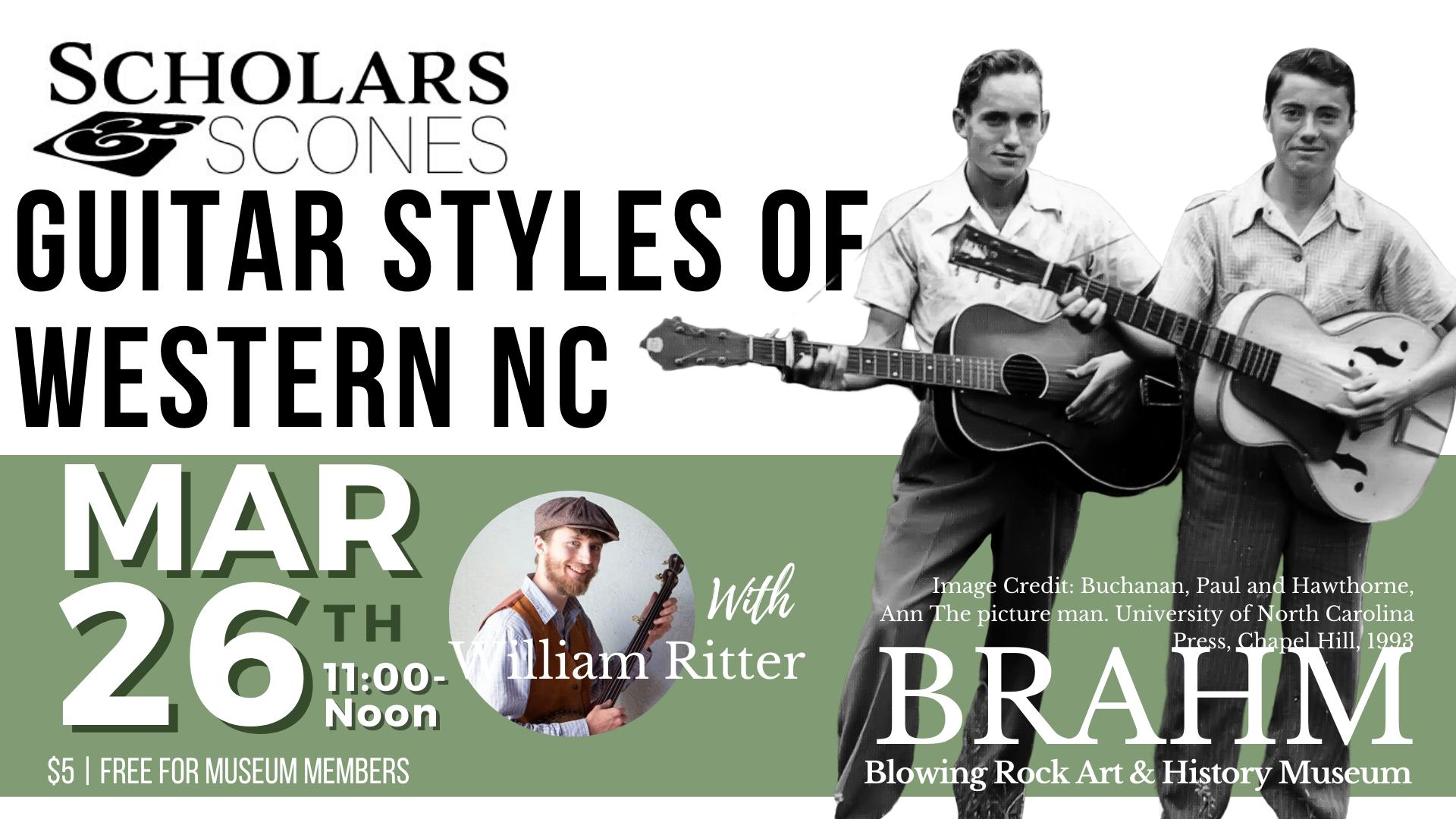 Scholars & Scones: Guitar Styles of Western NC