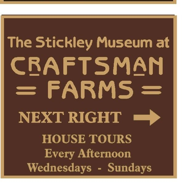 "F15912 - Design of a Carved, HDU (or Wood) Directional Sign for ""Museum at Craftsman Farms"" with House Tours"