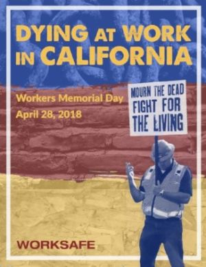 Worksafe Releases Report for Workers Memorial Day 2018