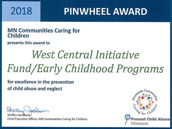 WCI receives Pinwheel Award