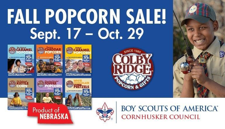 Cornhusker Council Fall Popcorn Sales Have Begun!