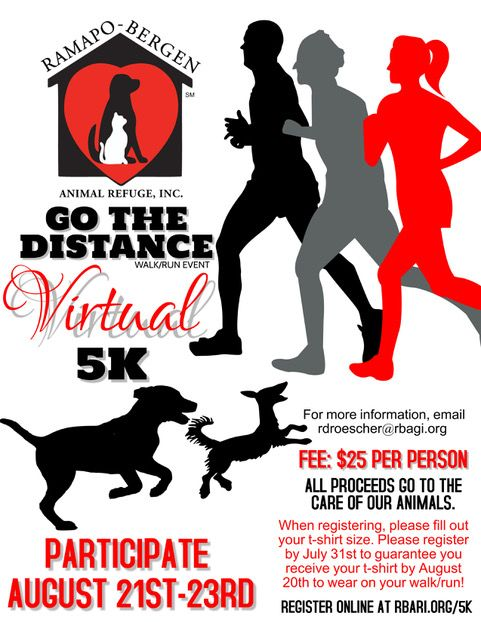 RBARI's Go The Distance Virtual 5K Walk/Run Event