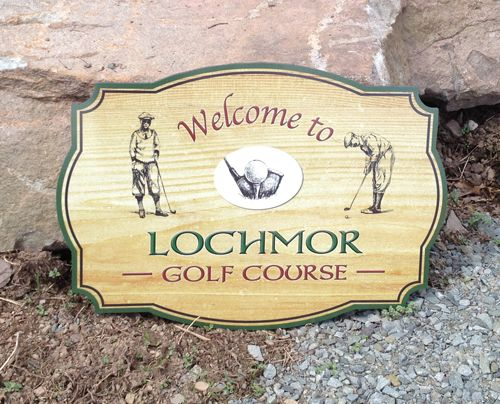 "Golf Course SIgn - 1/2"" PVC Contour Cut"