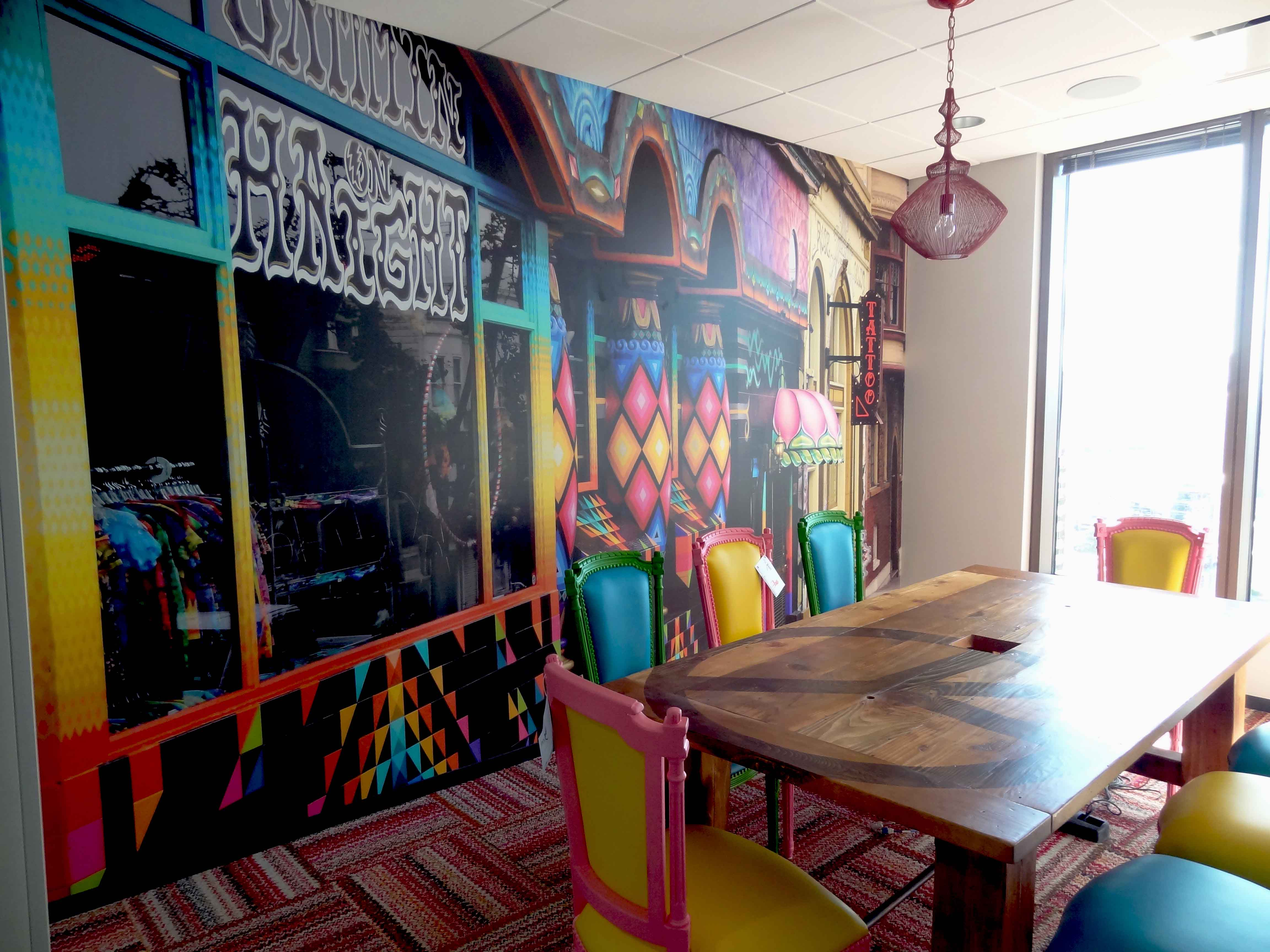 Custom wall mural printing prographix austin tx for Austin mural wall