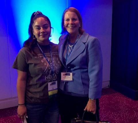 Sally Erny with Arieana Colbert