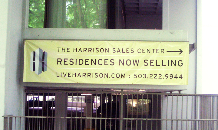 Harrison Building Banner full color digital print