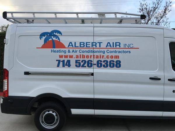Custom vinyl graphics for Ford Transit Vans in Orange County CA