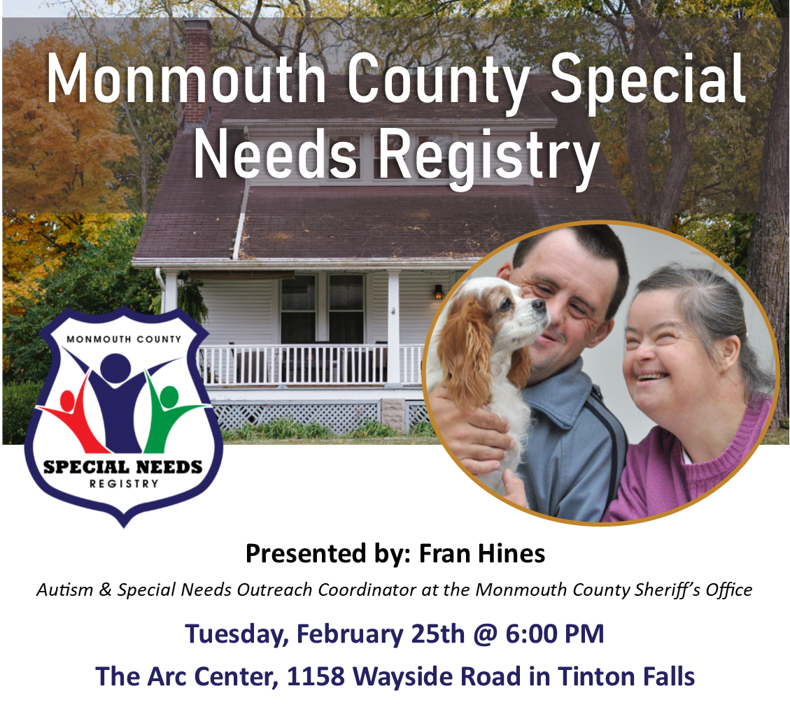Monmouth County Special Needs Registry
