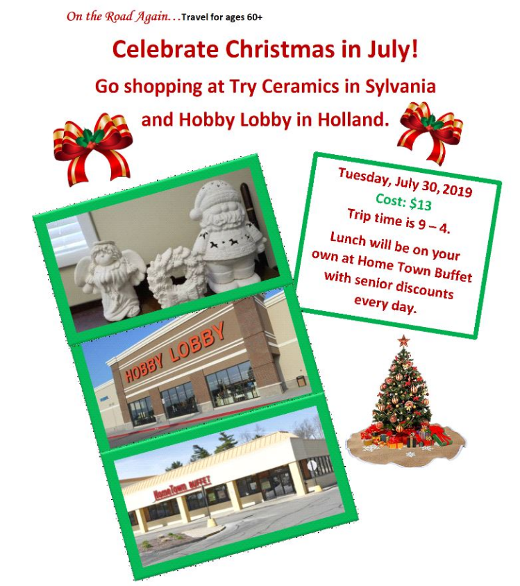 July 30 Christmas in July Holland and Sylvania