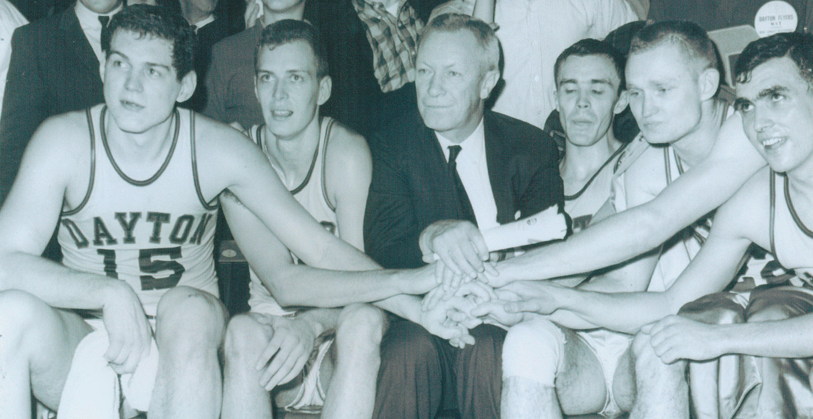 Tom Blackburn with team