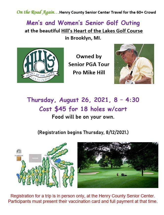 Golf Outing at Brooklyn, MI. August 26