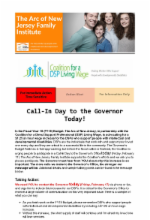 2.17.17 - Call-In Day to the Governor TODAY! (Closed)