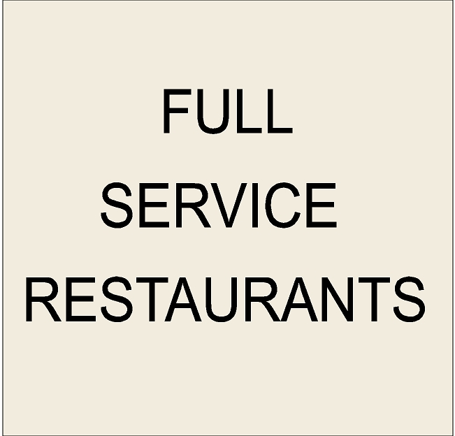 Q25000 -1. Signs for Full-Service Restaurants