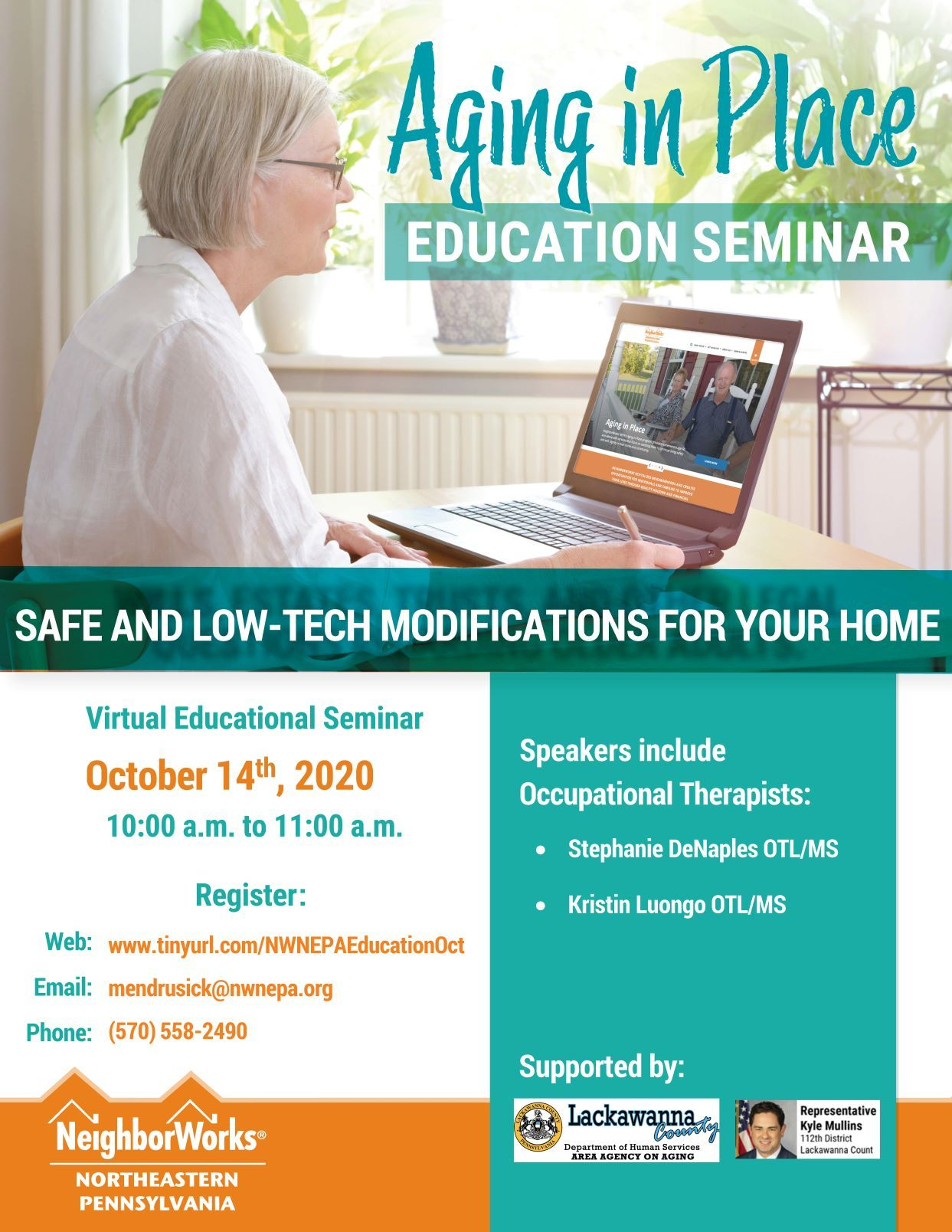 Virtual Aging in Place Seminar: Safe and Low-Tech Modifications for your Home