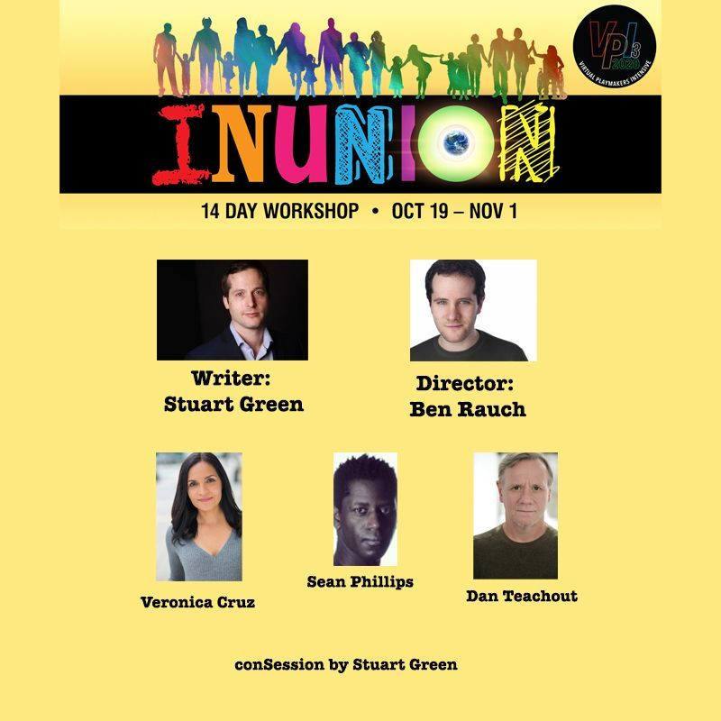 A picture of the VPI3: INUNION banner with tonight's cast's headshots, with a link.