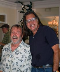 Artist Frank Fleming and collector Ken Jackson