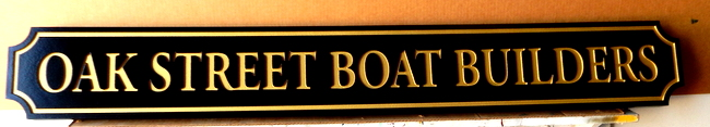 L21894 -  Quarterboard Address Sign for Boat Builders with 24K Gold Leaf Text