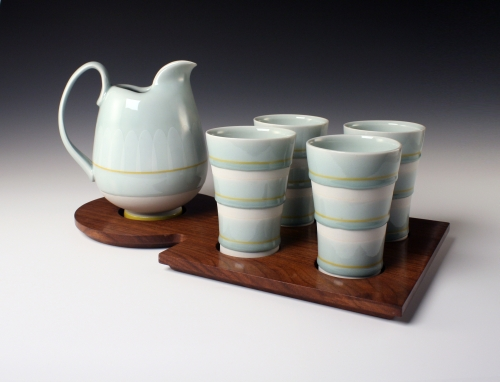 Donnelly, Paul - Pitcher and tumblers on tray - SOLD