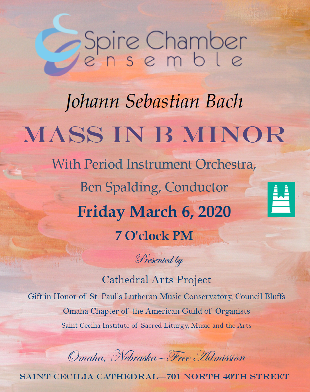 SPIRE TO PERFORM BACH MASS IN B MINOR