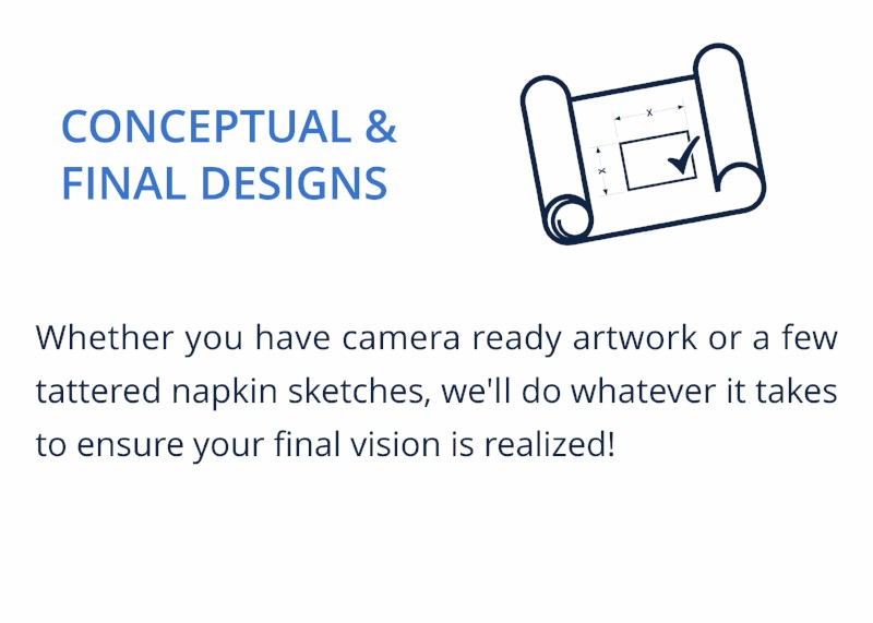CONCEPTUAL & FINAL DESIGNS