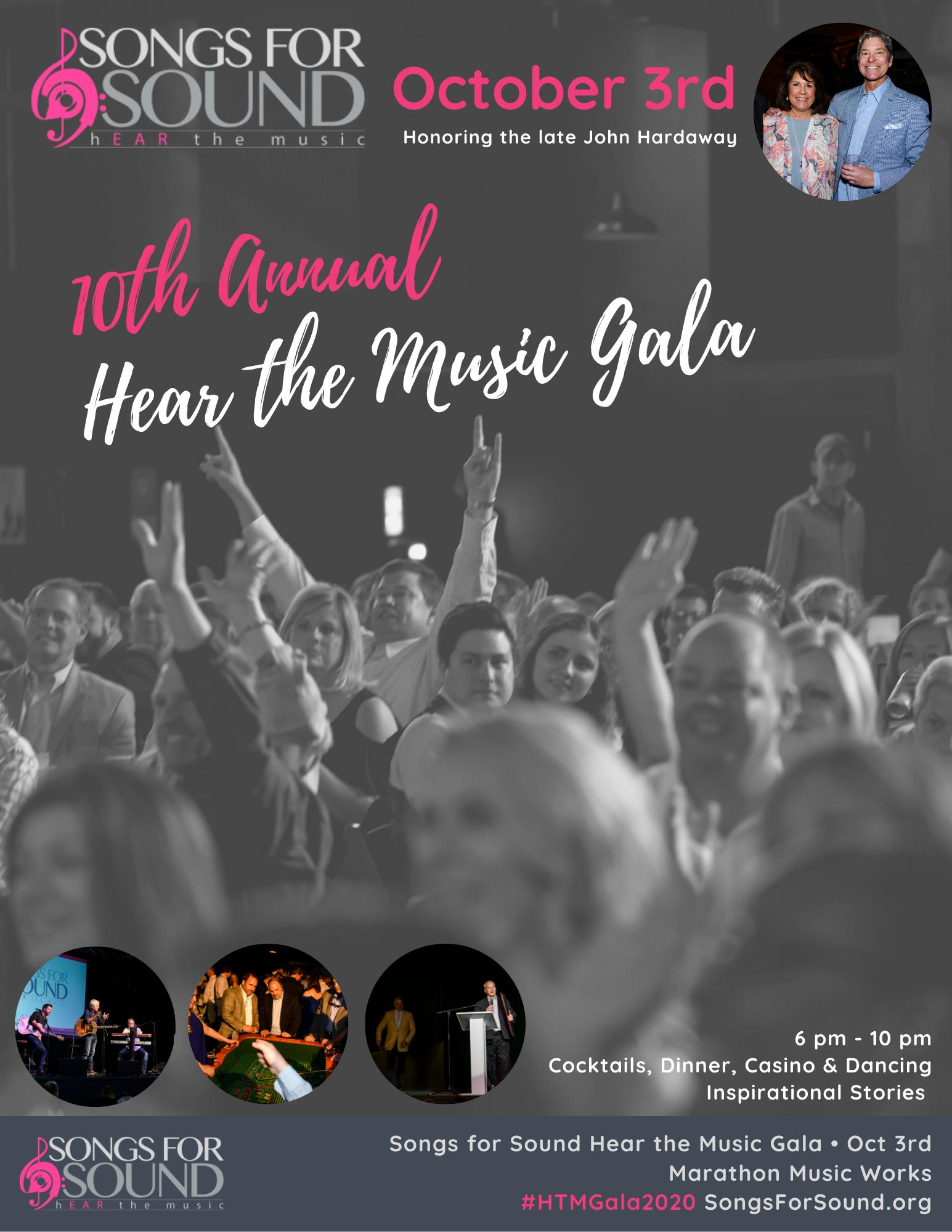 2020 Hear the Music Gala Sponsorship - Be an Event Sponsor