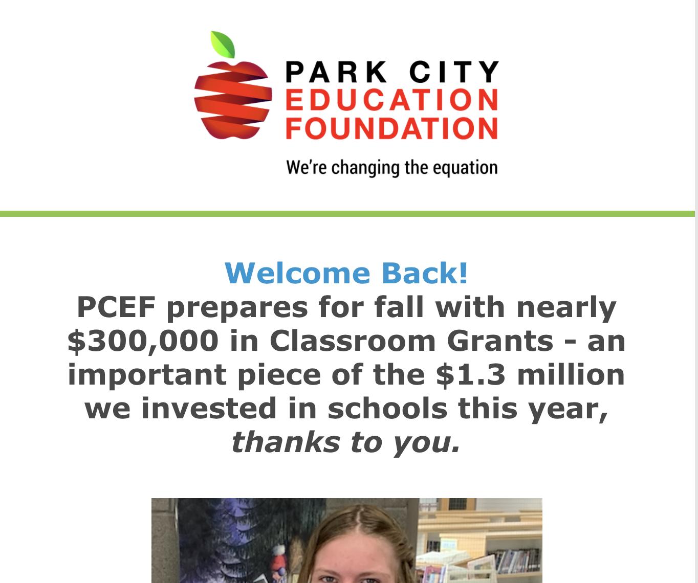 PCEF August Newsletter