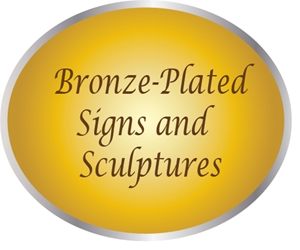 MA1250 - Bronze-Plated Sculptures and Signs