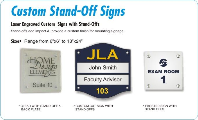 Stand-off Signs