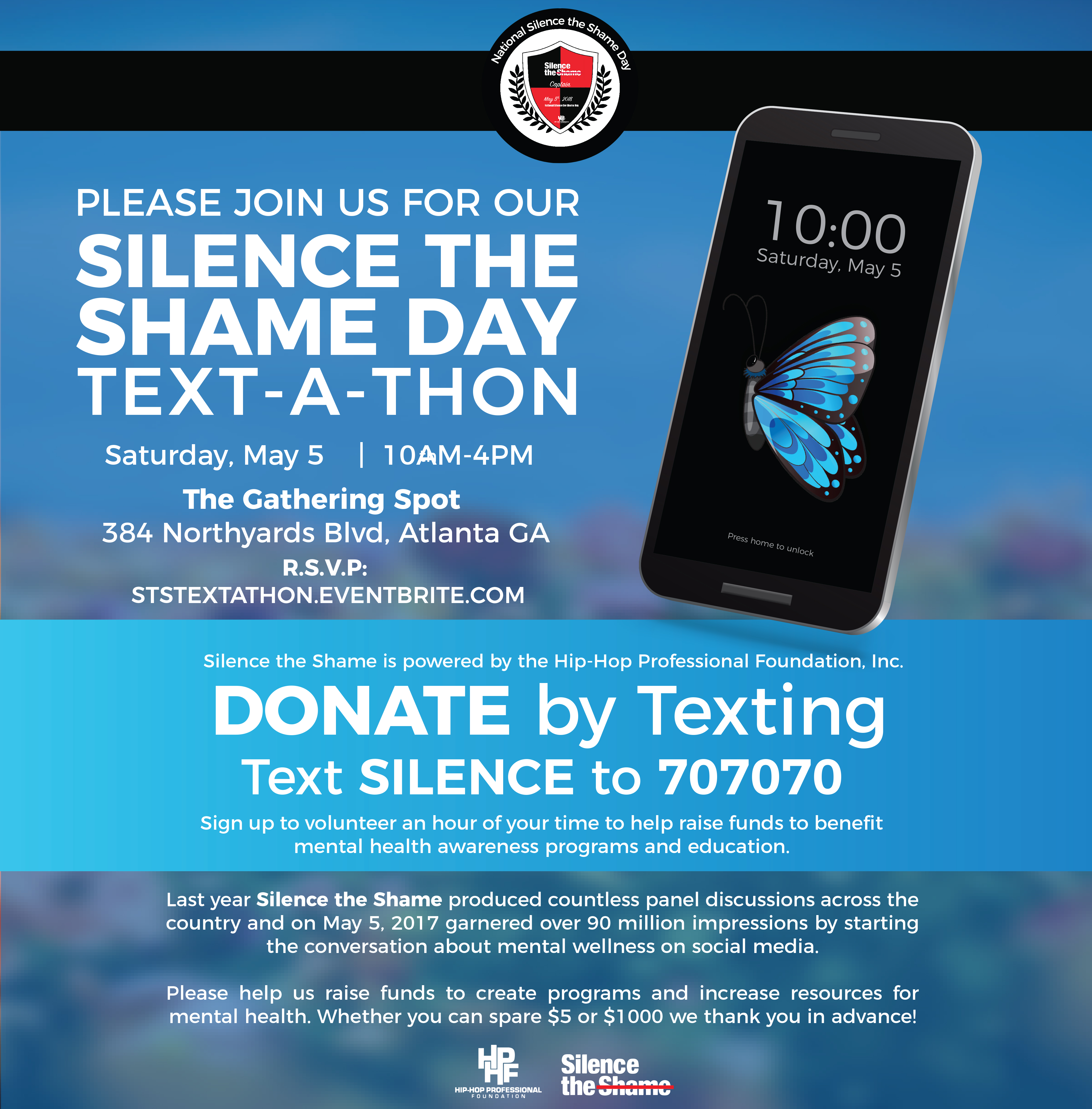 Silence the Shame Text-a-Thon