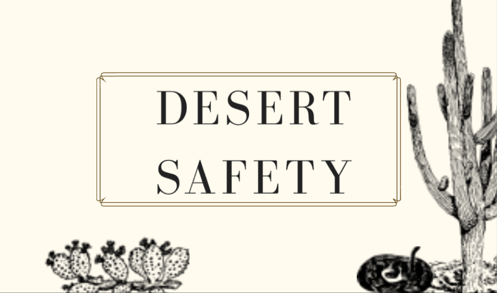 Desert Safety (ages 5-8)