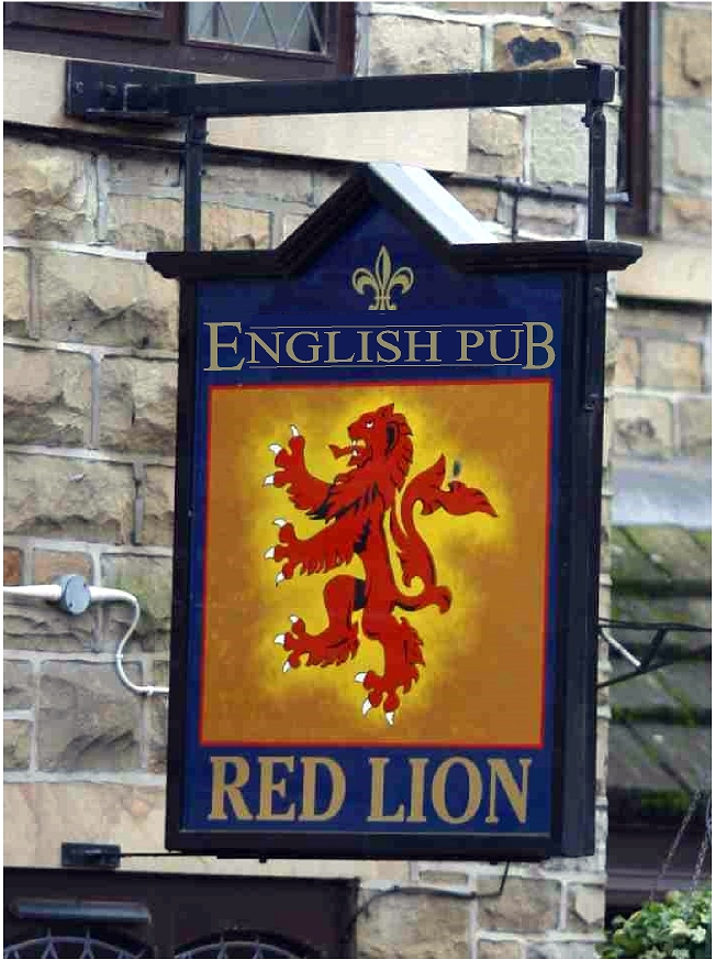 Y27550 - Rampant Red Lion English Pub Sign
