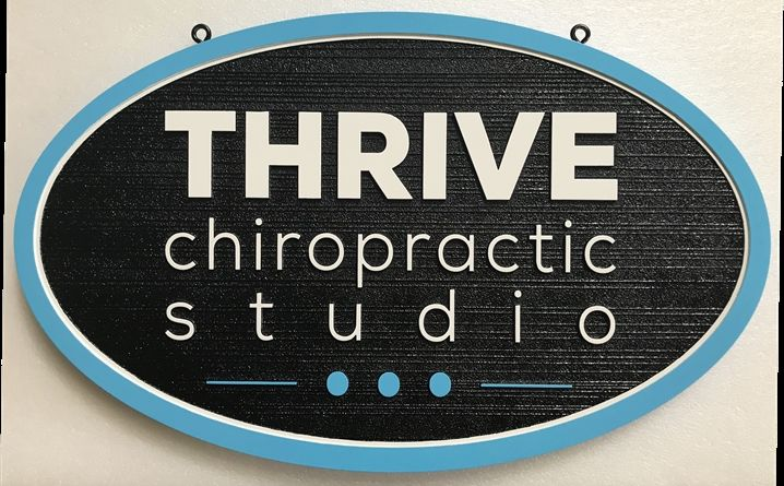 B11159 - HDU Sign, Carved in a Wood Grain Pattern for a Chiropractic Studio Office.