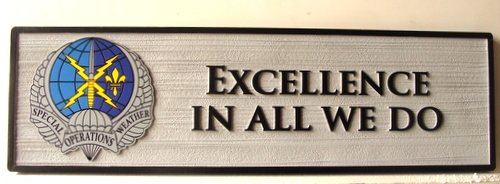 "V31613 - Motto Plaque for US Air Force ""Excellence in All We Do"""