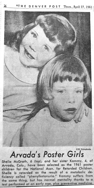 McGrath Sisters Named National Poster Children for NARC (4/27/61)