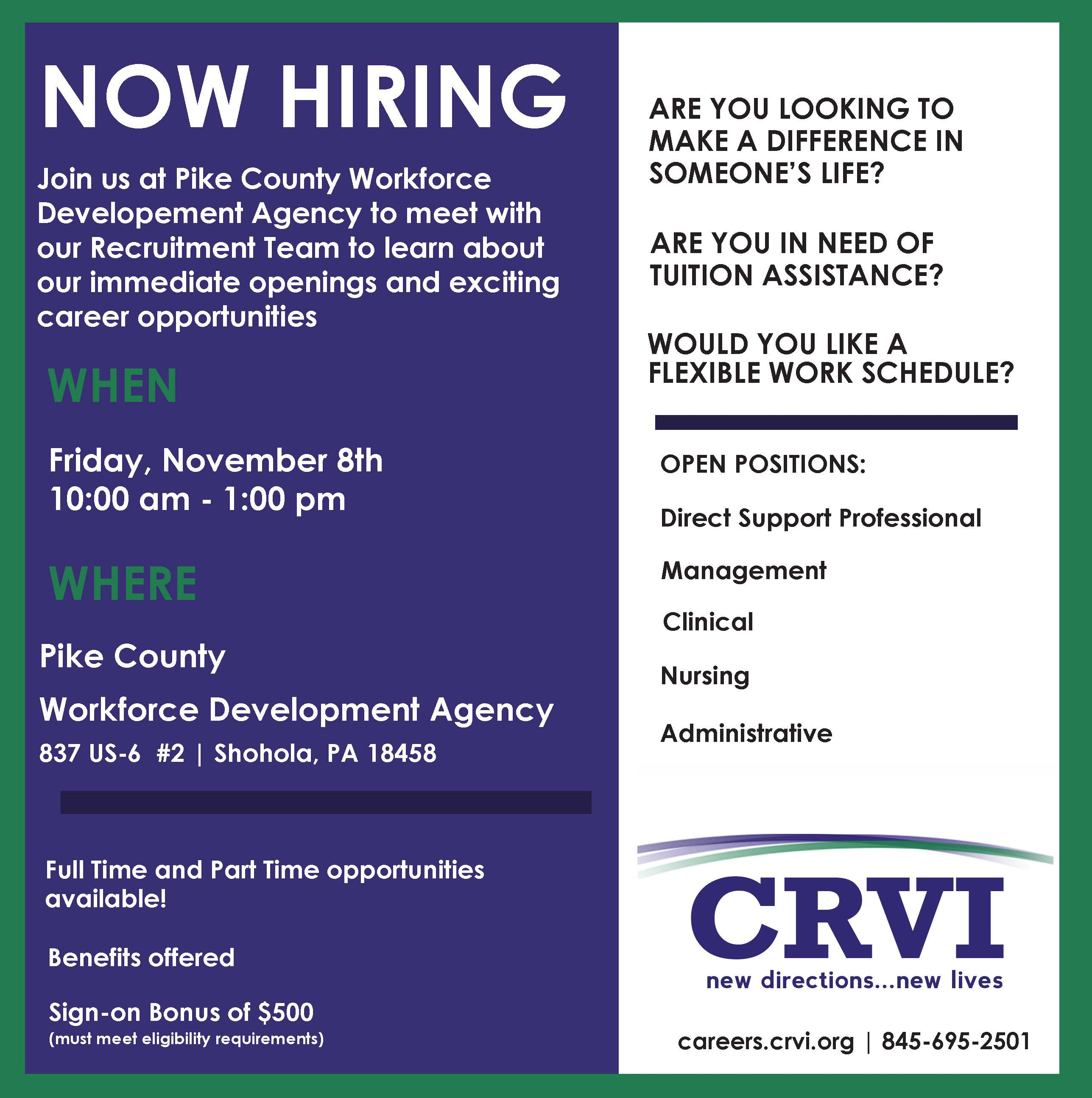 Pike County Hiring Event