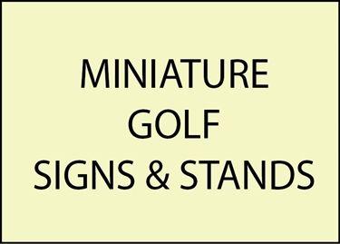 9. - E14850 - Miniature Golf Signs