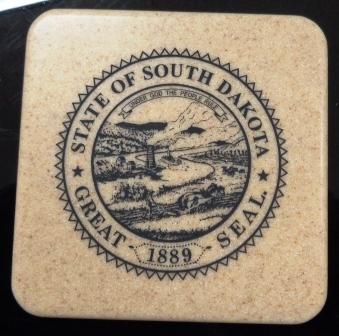 State Seal - Stone Coaster