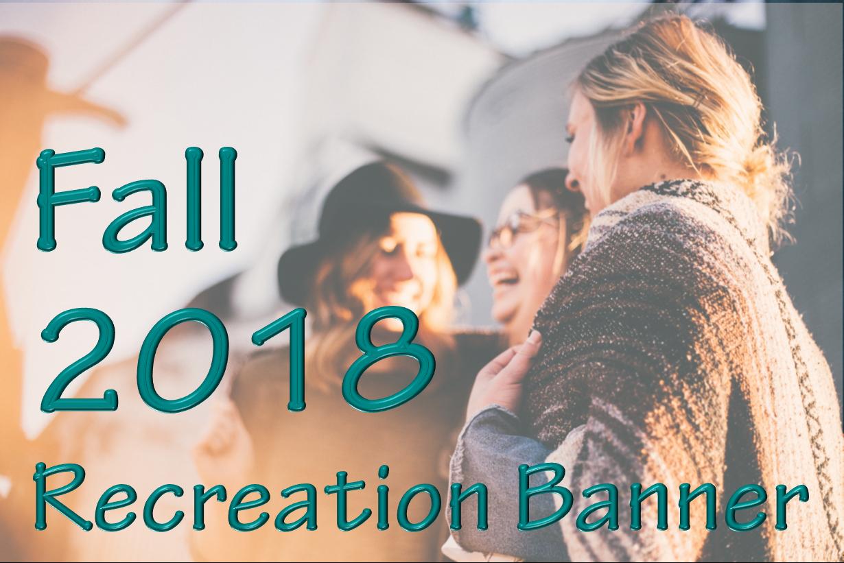 Fall Recreation Banner
