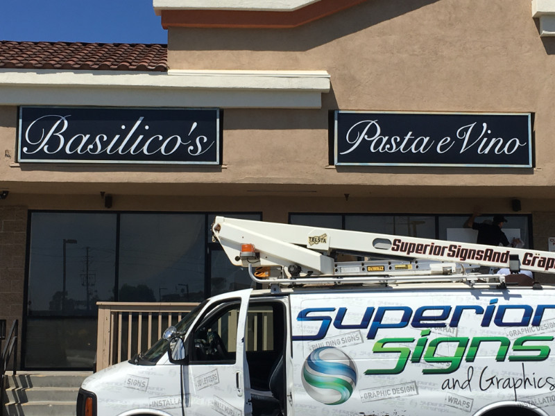 Restaurant Relocation Signs and Graphics Orange County CA