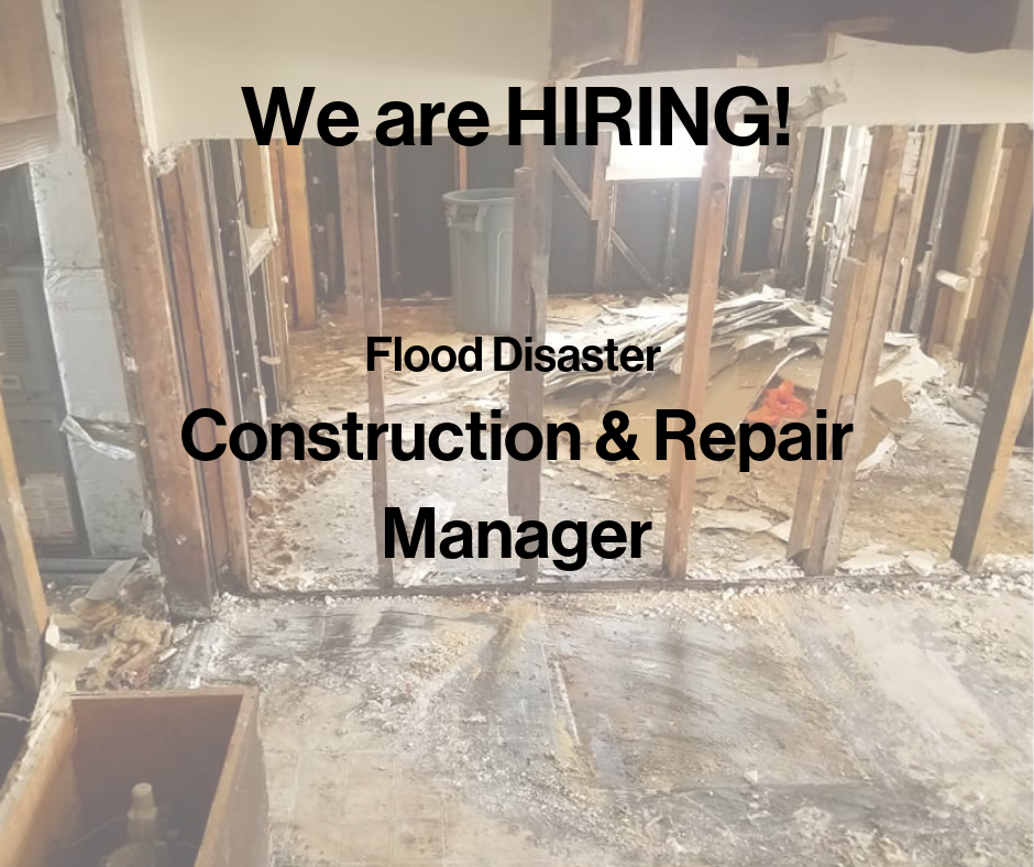 Hiring- Construction & Repair Manager (Flood Relief)