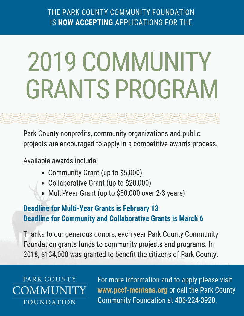 Now Accepting Applications for 2019 Community Grants Program