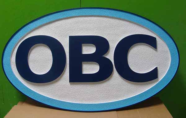 """SA28696 - Carved and Sandblasted Large """"OBC"""" Sign for Business"""