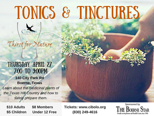 CNC: a Thirst for Nature event: Tonics & Tinctures