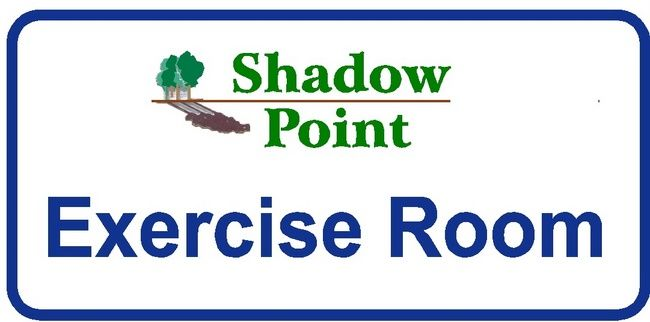 KA20835 - Design of Carved HDU or Wood Sign for Apartment  Exercise Room