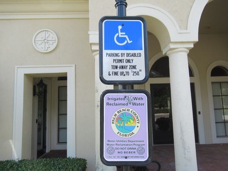 Disable Parking Signs