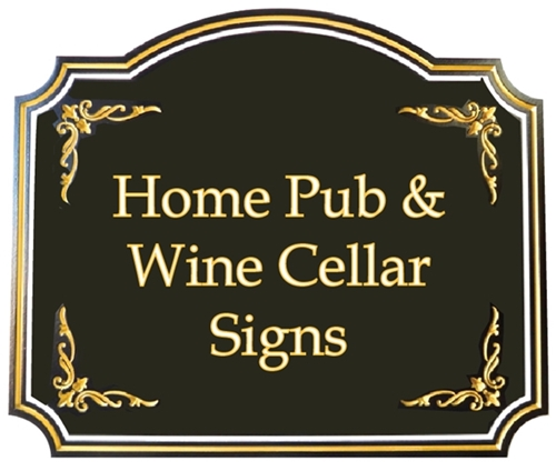 (F) - Home Pub u0026 Wine Cellar Signs u0026 Plaques  sc 1 st  Art Sign Works & Give a unique personalized gift -a Custom Carved Wood Sign or Plaque