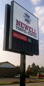 Newell Travel Center Digital Sign